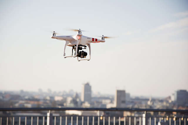 A small drone with a camera, perfect for performing drone inspections