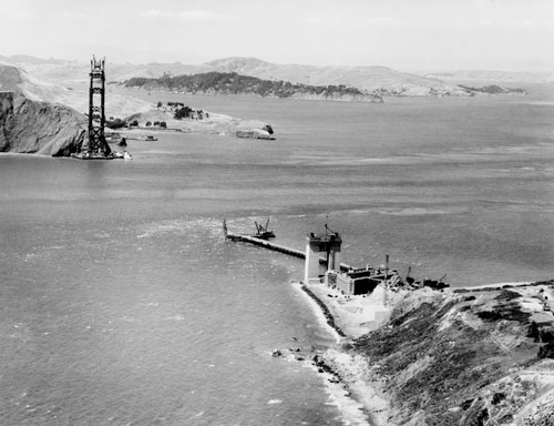 Construction accident while building the Golden Gate Bridge