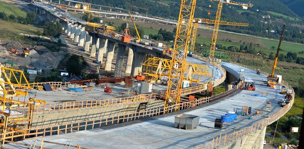 U.S. infrastructure work on a bridge