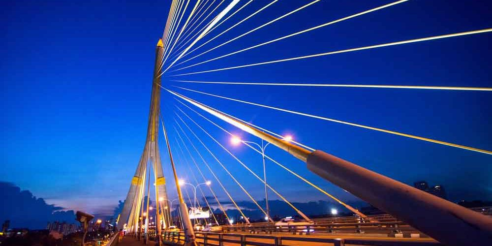 Cable stayed bridge design