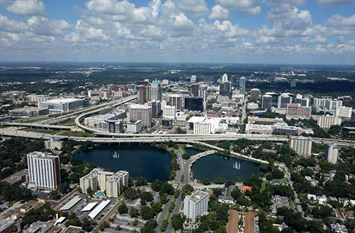Orlando skyline.